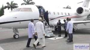 Photo Of Amaechi Arriving Rivers State In A Private Jet Over The Weekend